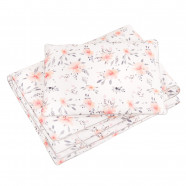 Comforter and pillow child 2 in 1 ready to sleep - Premium bed linen - Flora Corail