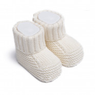 Organic cotton knit sock slippers